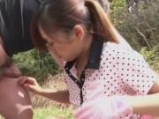Asiatica draguta trece la supt pula dupa prima ei partida de golf